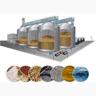 Силосы для хранения зерна. Комплекс зернохранилище на